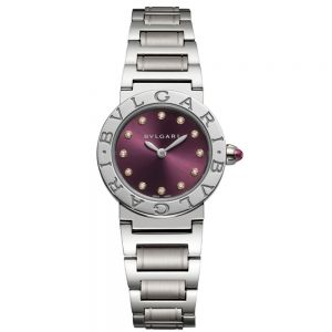 Bulgari Bulgari Lady Acero e índices de diamantes 26mm