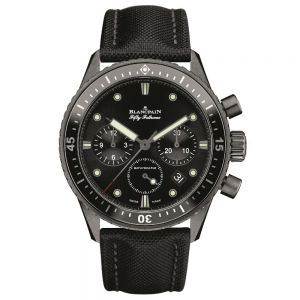 Blancpain Fifty Fathoms Cronógrafo Flyback Cerámica negra 43,60mm