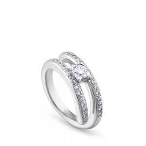 solitario-twins-oro-blanco-diamante-4-garras-pave-diamantes - Ref J4968SB