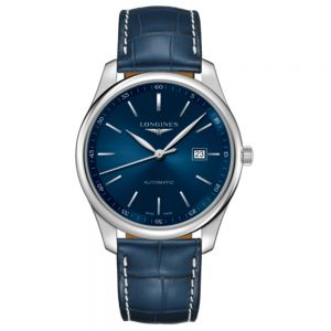 Longines Master Collection 42mm en azul con piel