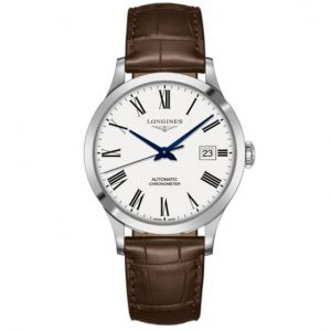 Longines Record Collection 40mm en acero y piel