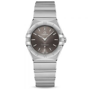 OMEGA Constellation Manhattan esfera gris 28mm