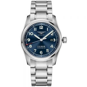 Longines Spirit Acero Esfera Azul 42 mm Auto (Set correas intercambiables)
