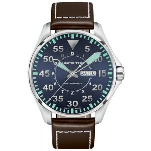 Hamilton Khaki Aviation Pilot Day-Date Auto Esfera Azul