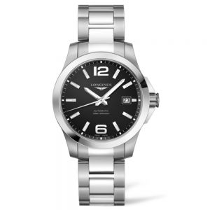 Longines Conquest 39mm esfera negra