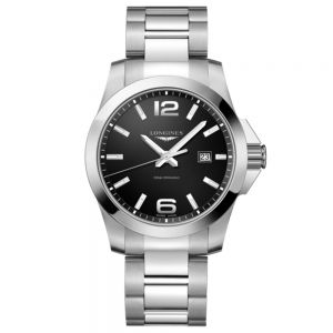 Longines Conquest 43mm esfera negra