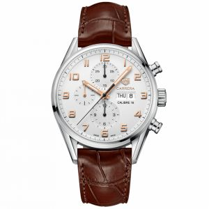 Tag Heuer Carrera Calibre 16 Date-Day esfera blanca 43 mm