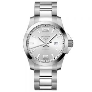 Longines Conquest 43mm esfera silver