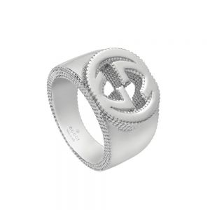 anillo-plata-gucci-interlocking-G-ancho-14mm -  Ref YBD479229001