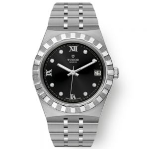 Tudor Royal Esfera Negra y diamantes 34 mm