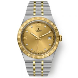 Tudor Royal Bicolor Esfera Champagne diamantes 38 mm