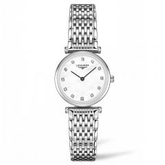 Longines La Grand Classique Acero y diamantes 24 mm Cuarzo