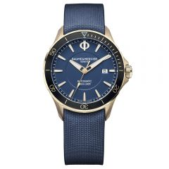 Baume et Mercier Clifton Club bronce 42 mm esfera azul y caucho