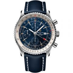 Breitling Navitimer Chronograph GMT 46mm acero y piel