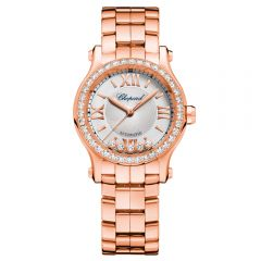 Chopard Happy Sport 30 mm Automatic Oro Rosa y Diamantes
