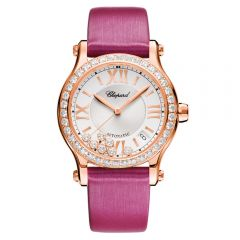 Chopard Happy Sport 36 mm Automatic Oro Rosa y Diamantes