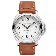 Panerai Luminor Base Logo 3 Days Acciaio Cuerda Manual Esfera Blanca