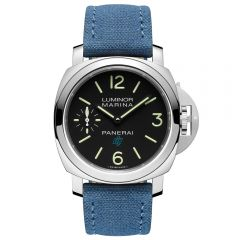 Panerai Luminor Marina Logo 3 Days Acciaio Cuerda Manual Tela Azul