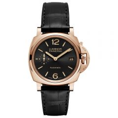 Panerai Luminor Due 3 Days Automático Oro Rosso 38 mm Negro