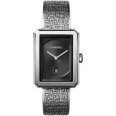 reloj-chanel-boy-friend-tweed-modelo-mediano-acero- Ref H4878