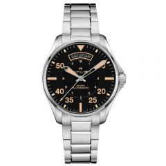 Hamilton Khaki Aviation Day-Date Auto Brazalete